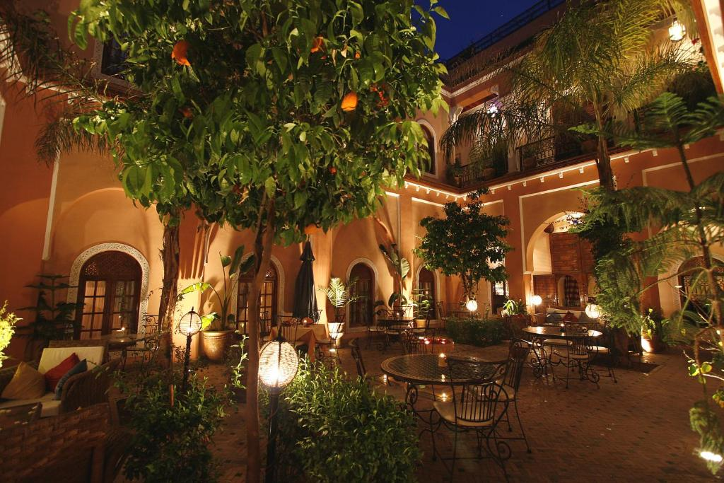 A patio or other outdoor area at Riad Amina