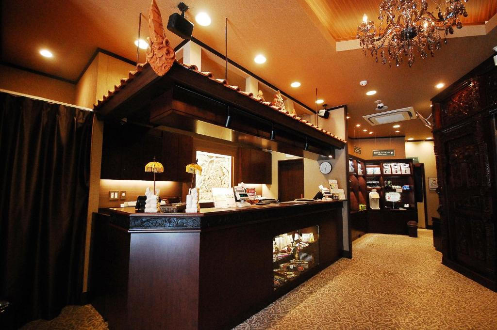 The lobby or reception area at Capsule Hotel Anshin Oyado Akihabara
