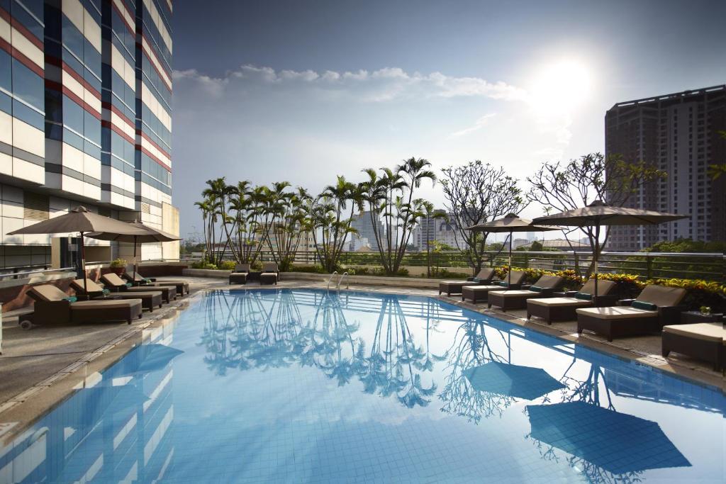 The swimming pool at or near Melia Hanoi