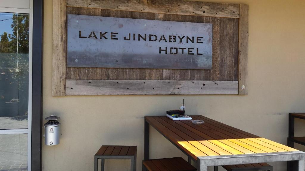 A certificate, award, sign, or other document on display at Lake Jindabyne Hotel