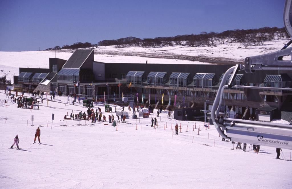 The Perisher Valley Hotel during the winter