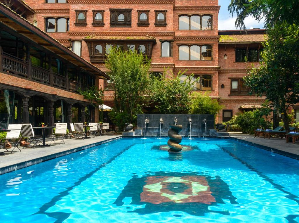 The swimming pool at or close to The Dwarika's Hotel