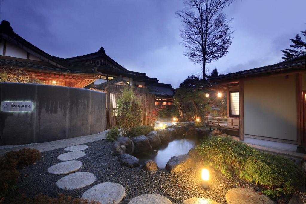 El edificio en el que está el ryokan