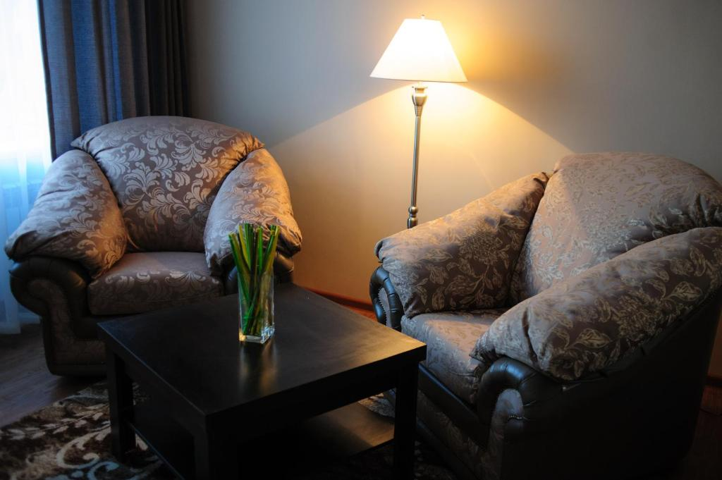 Гостиная зона в Гостиница Магадан