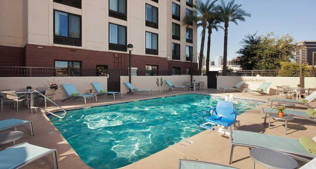 The swimming pool at or near SpringHill Suites Phoenix Downtown