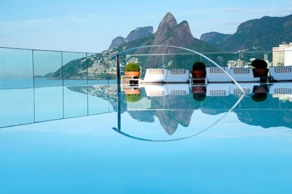 A piscina localizada em Hotel Fasano Rio de Janeiro ou nos arredores
