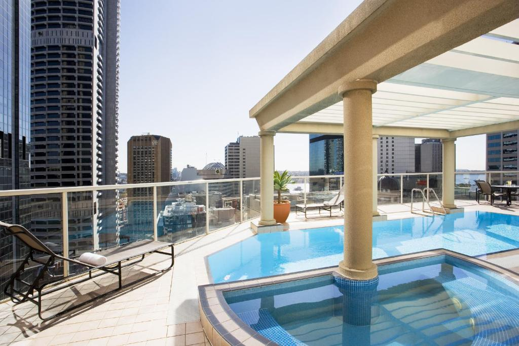 The swimming pool at or near Mantra 2 Bond Street