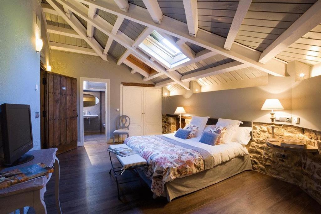 Cama o camas de una habitación en El Morendal