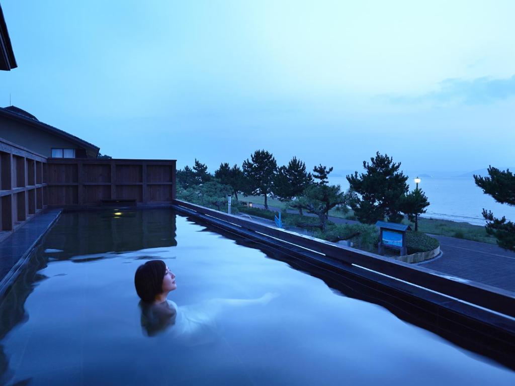 The swimming pool at or near Shioyu Naginoto