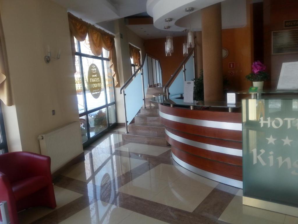 Лобби или стойка регистрации в Hotel Restauracja Kinga