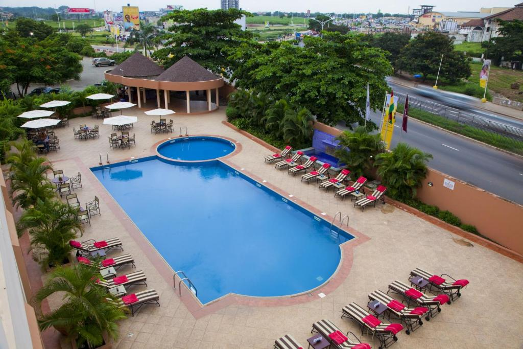A view of the pool at African Regent Hotel or nearby