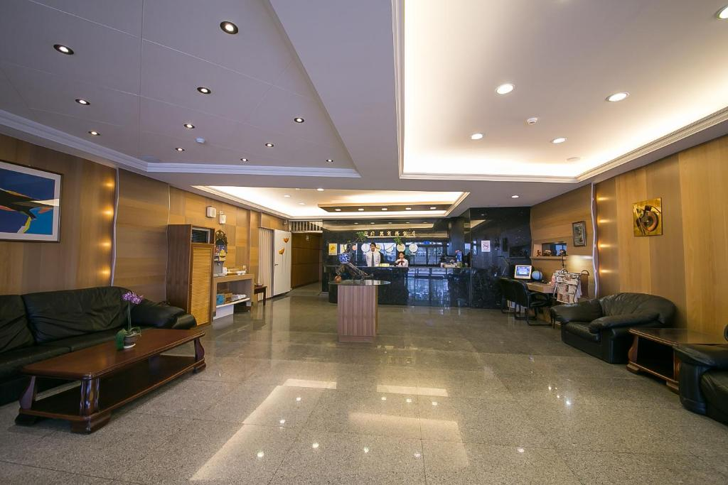 The lobby or reception area at Jiuning Business Hotel
