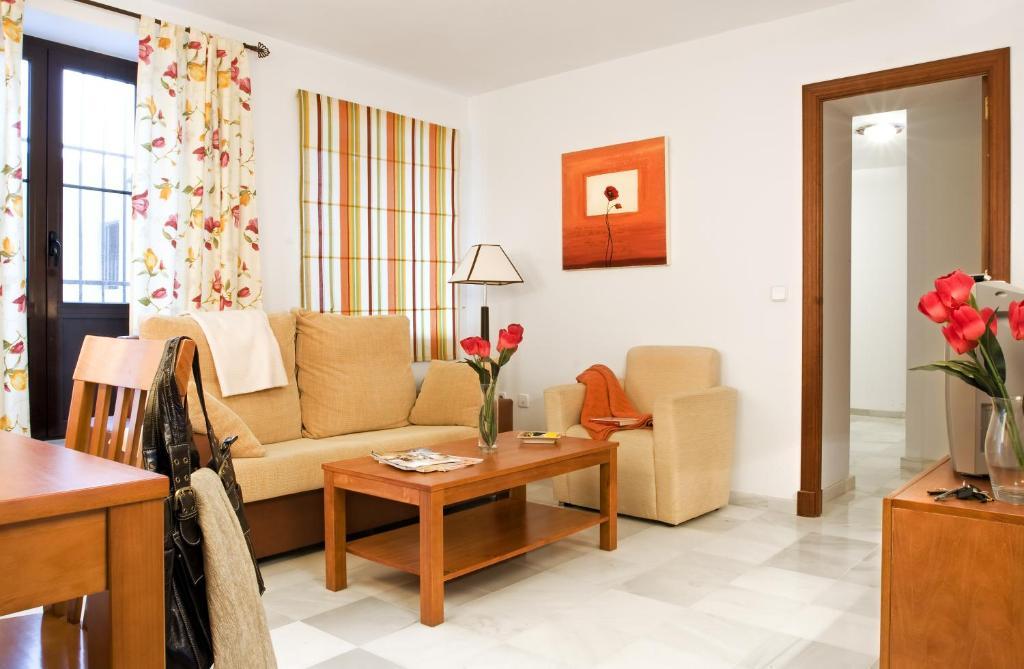A seating area at Casa Palacio Luna