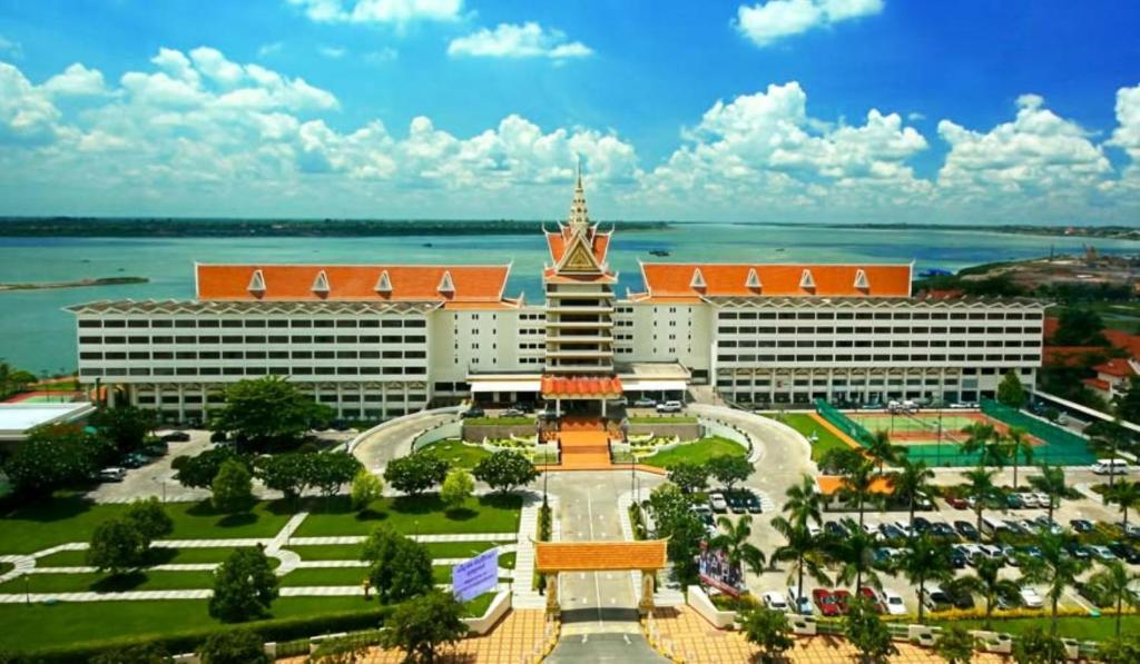 A bird's-eye view of Hotel Cambodiana