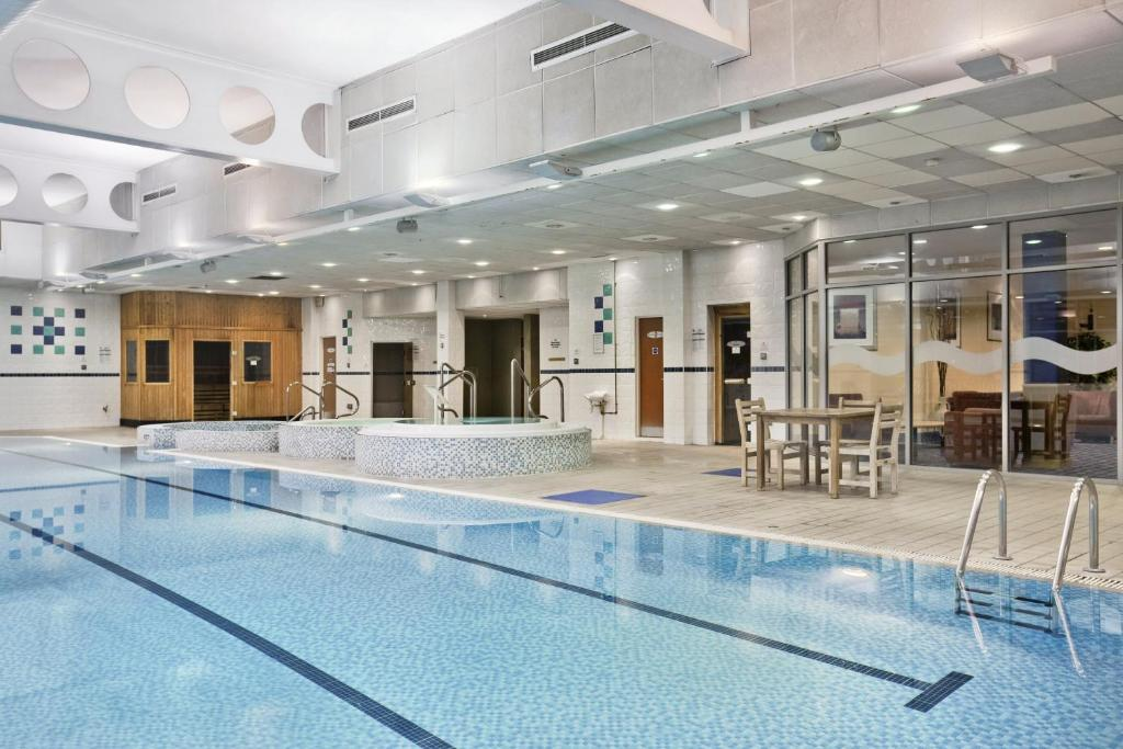 The swimming pool at or near Doubletree By Hilton Glasgow Strathclyde