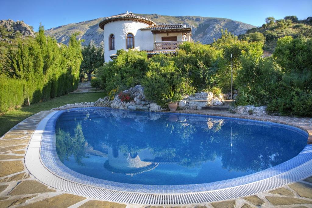 The swimming pool at or near Finca Rocabella