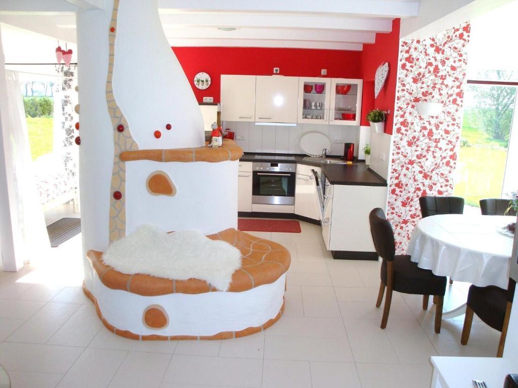 Küche/Küchenzeile in der Unterkunft Haus Dornröschen