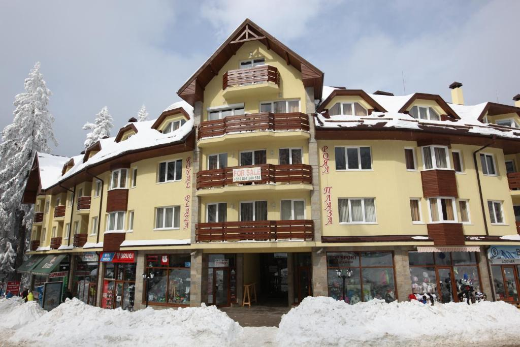 Royal Plaza Apartments during the winter