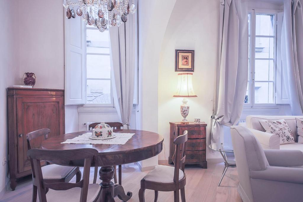 Zona de estar de Apartments Florence Parione