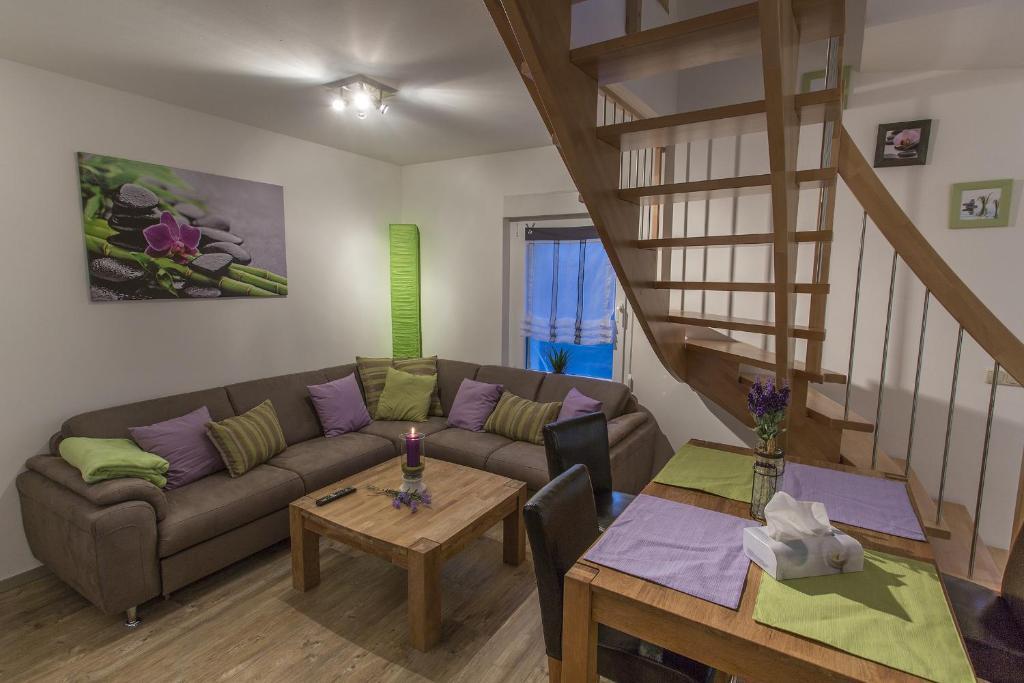 Ein Sitzbereich in der Unterkunft Sandra's Ferienoase