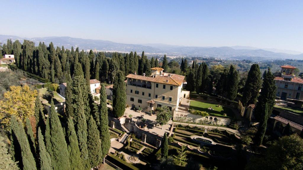 A bird's-eye view of Art Hotel Villa Agape