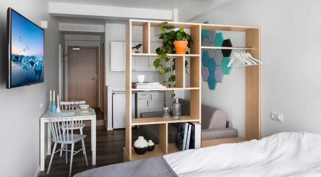 A bunk bed or bunk beds in a room at Island Apartments