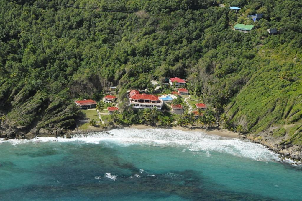 A bird's-eye view of Petite Anse Hotel