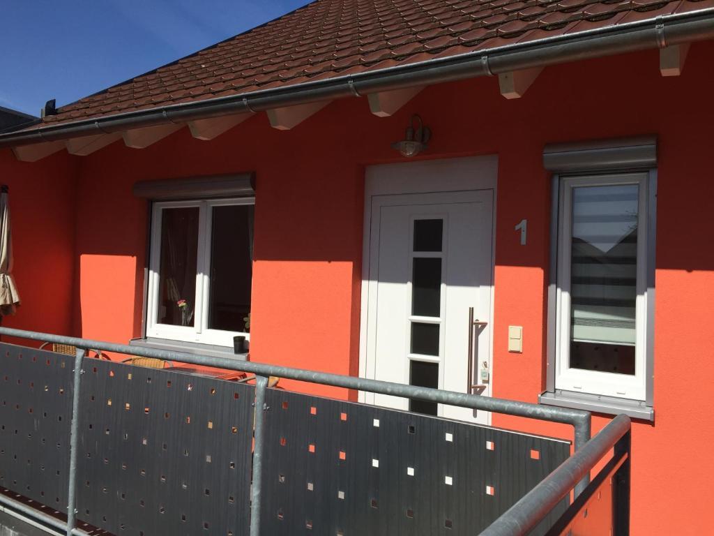 En balkon eller terrasse på Gästehaus Durst