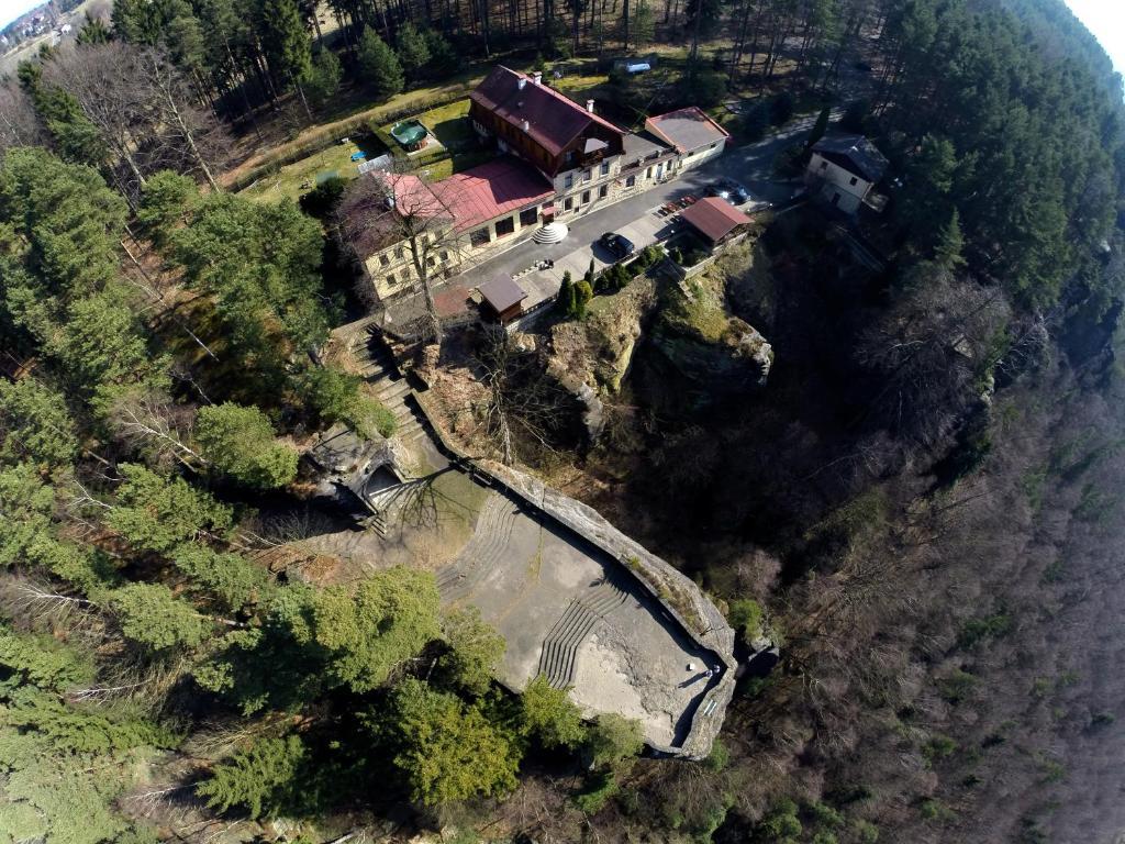Letecký snímek ubytování Hotel Belveder