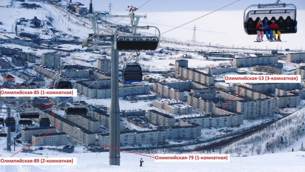 Apartaments on Olimpijskaya during the winter