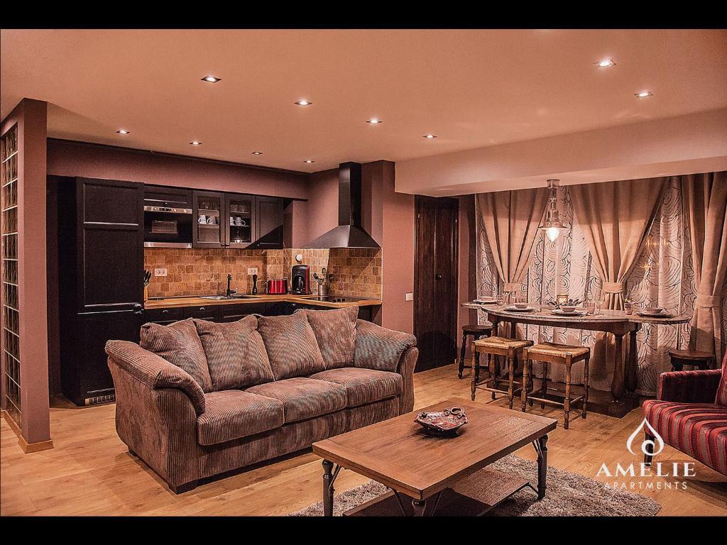 O zonă de relaxare la Apartamente Amelie