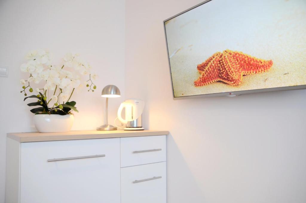 Telewizja i/lub zestaw kina domowego w obiekcie Bałtyckie-Hel