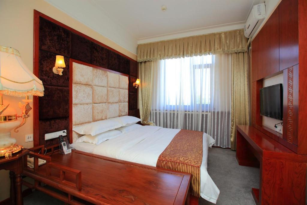 A room at the Capital International Airport Hotel.