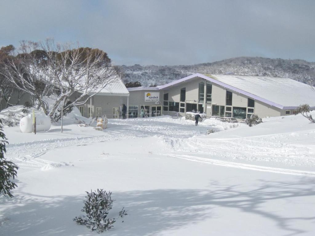 Sundeck Hotel during the winter