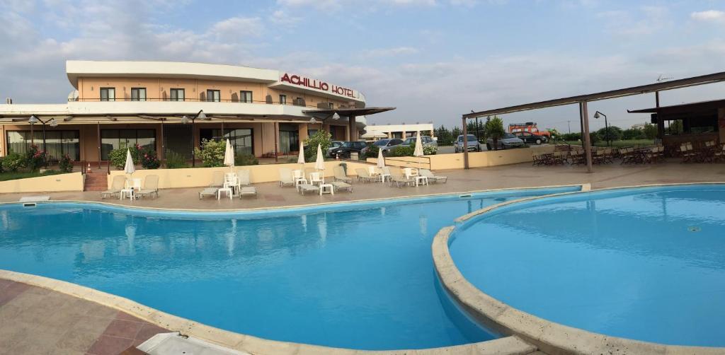 The swimming pool at or near Achillio Hotel