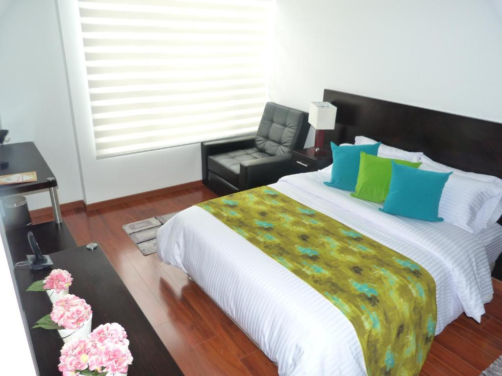 Cama o camas de una habitación en Hotel Boutique Laverdieri