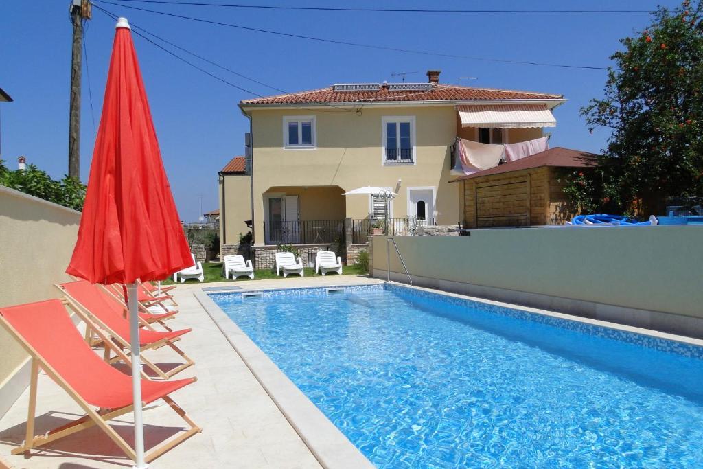 The swimming pool at or close to Apartments Villa Ela