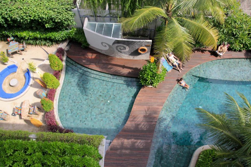A view of the pool at Bliss Surfer Hotel or nearby