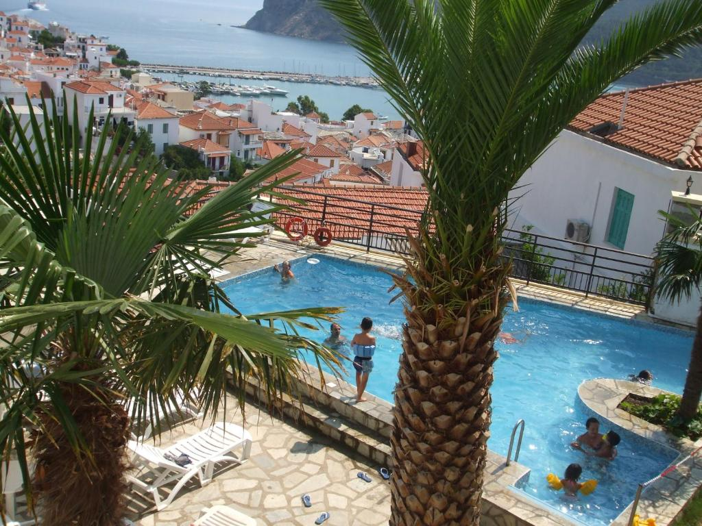 The swimming pool at or near Denise Hotel