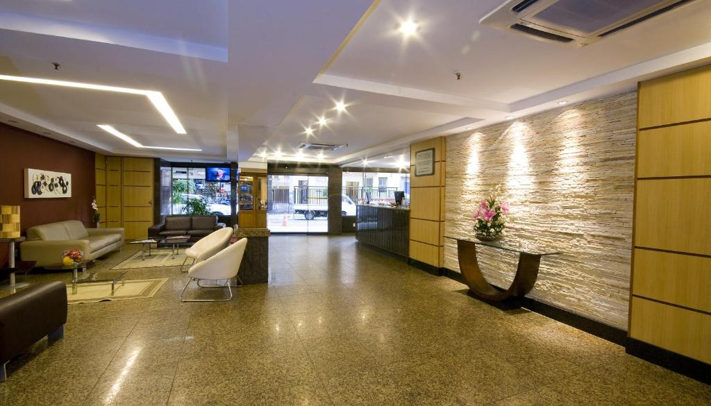 The lobby or reception area at Hotel Rondônia Palace