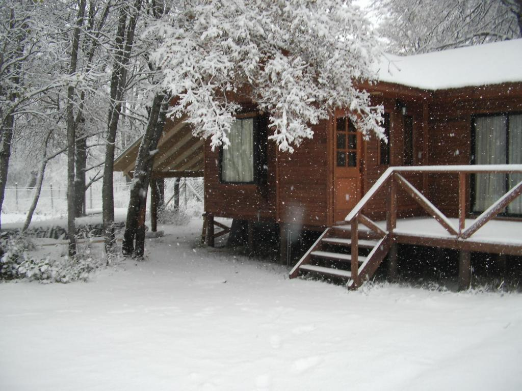 Cabanas Roble Quemado during the winter