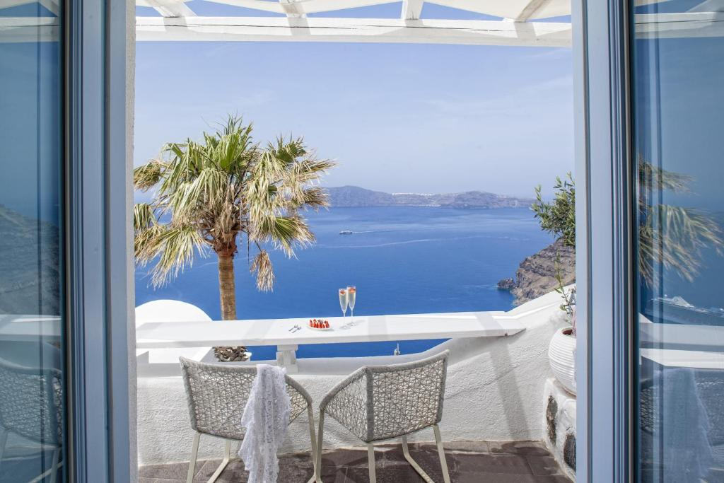 A balcony or terrace at Mill Houses Elegant Suites