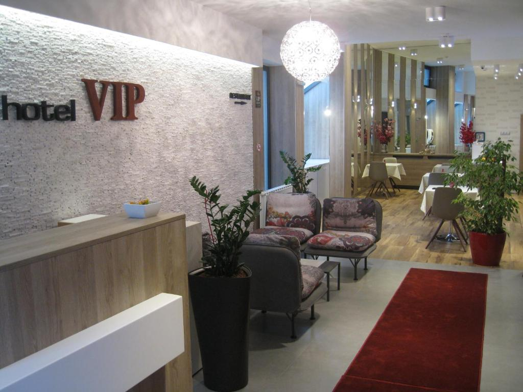 The lobby or reception area at Hotel VIP