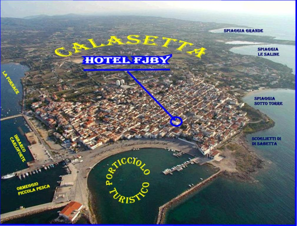 Hotel Fjby с высоты птичьего полета