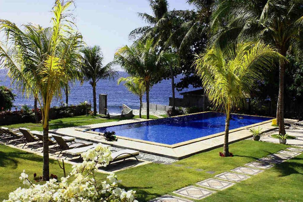 The swimming pool at or near Ocean View Dive Resort Tulamben