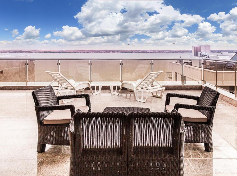 Un balcon sau o terasă la Apartment Mirage 44