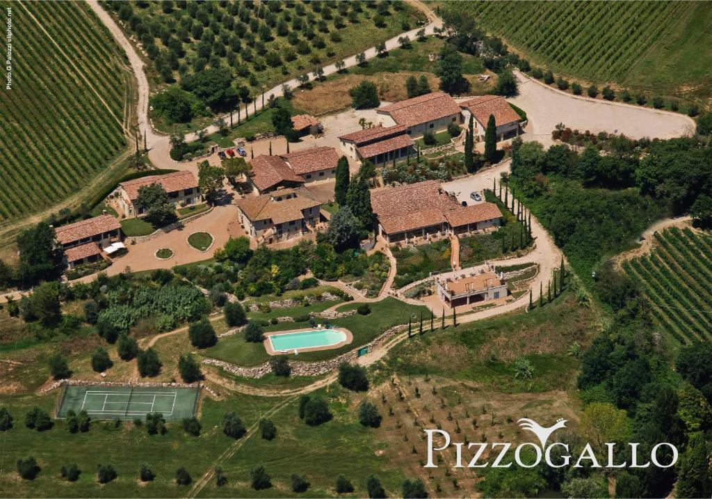 Vista aerea di Tenuta Pizzogallo