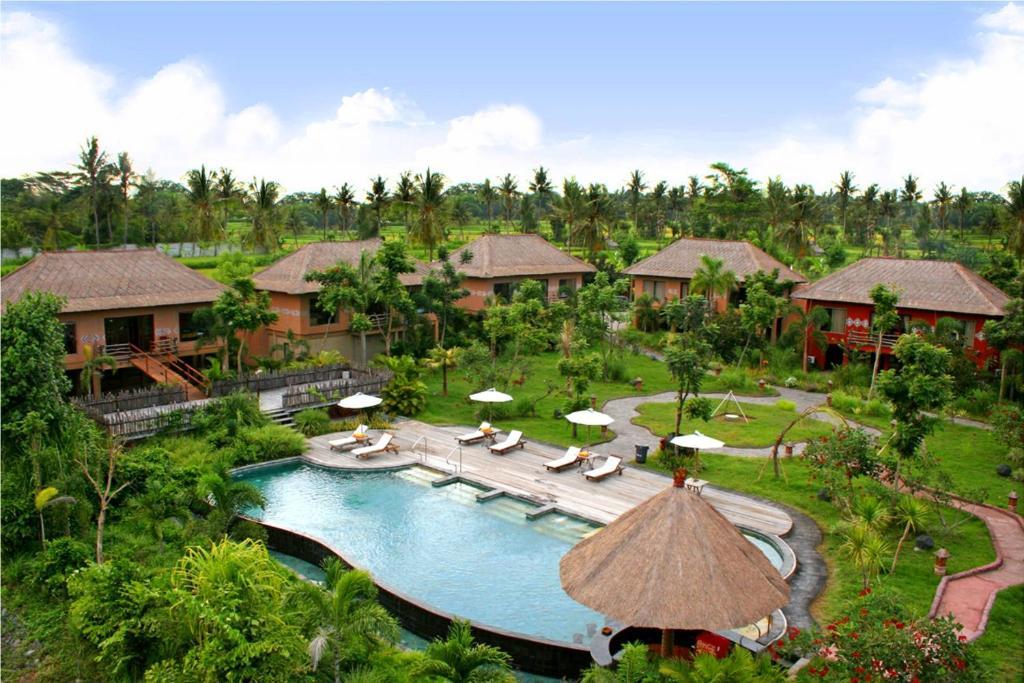 A view of the pool at Mara River Safari Lodge Bali or nearby