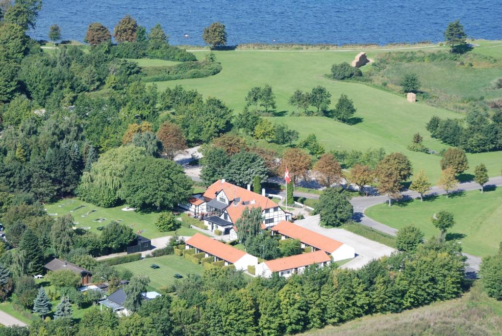 Blick auf The Cottage aus der Vogelperspektive