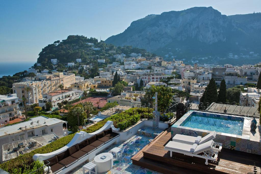 A bird's-eye view of Capri Tiberio Palace